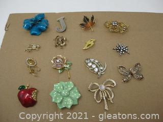 Miscellaneous Costume Brooches