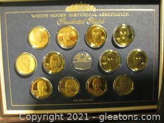 24k Over Sterling Silver 1st Edition Proofs-12 Presidential Medals