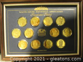 24k Over Sterling Silver 1st Edition Proofs-Presidential Medals (12)