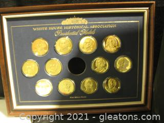 24k Over Sterling Silver 1st Edition Proofs- Presidential Medals