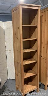 5 Shelf Knotty Pine Bookshelf