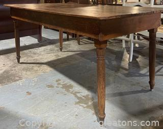 Rustic Reclaimed Wood Farmhouse Dining Table