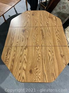 Wood Grain Look Octagon Dining Table