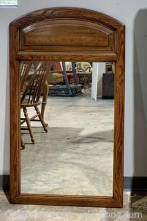 Lovely Wood Framed Wall Mirror