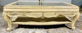 Beautiful Italianate Glass Top Coffee Table