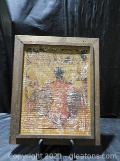 Woman From Behind Painting –Framed