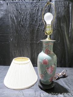 Ginger Jar Asian Lamp and Ivory Shade