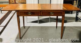 Genuine Mahogany Drop Leaf Secretary Desk