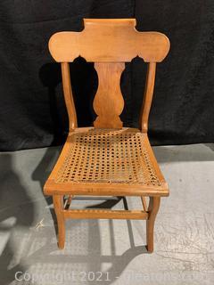 Dainty Oak Cane Bottom Chair