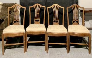 4 Sheraton Parlor Dining Chairs