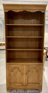 Ethan Allen Maple Wood Library Wall Unit