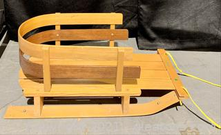 Vintage L.L.Bean Snow Sled with Seat Back