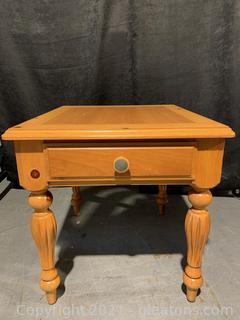 Lane Eddie Bauer Natural Pine 4 Leg Side Table