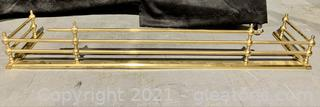 Brass Fireplace Fender