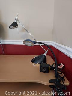 Pair of Modern Desk Lamps