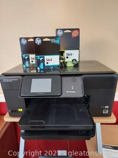 HP Photos Smart Premium Print, Scan, Copy Printer + 3 Ink Cartridges