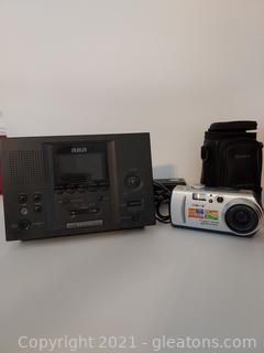 Not Quite Vintage Camera and Clock Radio
