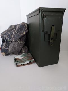 Military Surplus Item U.S. Military Night Vision Device Canister and Adjustable Camo Belt
