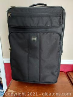 Black Canvas American Tourister Rolling Suitcase