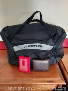2 Wallets and a Duffel Bag
