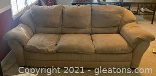 Suede Pillow Top Arm Sofa
