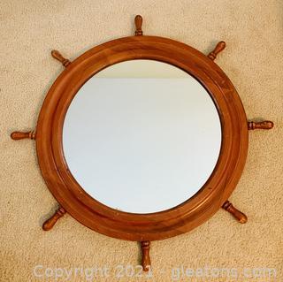 Nautical Ship Wheel Mirror