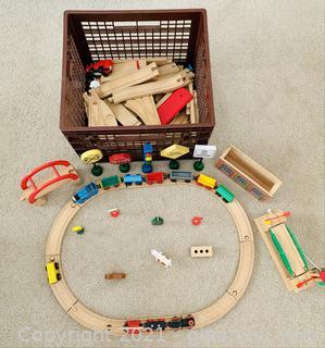 Thomas The Train + Friends Wooden Train Set