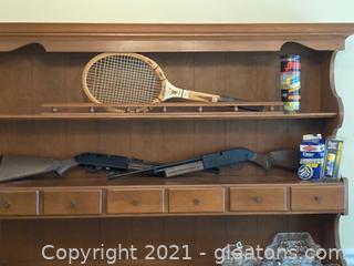 Sporting Group: 2-760 Pump Master BB Guns ,Wooden Wilson Tennis Racket and 2 Tennis Balls