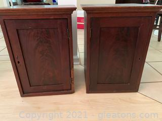 Side Table Storage (Lot of 2)