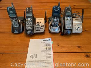 Panasonic Phones W/Answering System (Lot of 2)