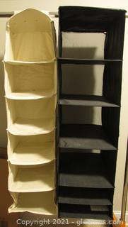2 Hanging Closet Storage Shelves