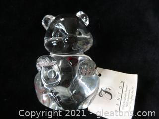 FENTON CLEAR BEAR RED HART WITH TAGS