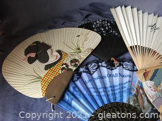 5 vintage fans