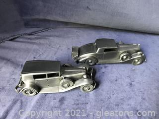 1937 pewter Packard coupe and 1929 CordL29