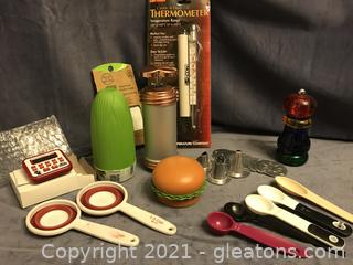 New Candy /deep fry thermometer, pepper mill, timer