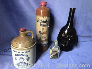 Old bottles and jugs
