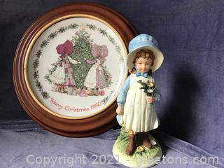 Holly Hobby plate and figure