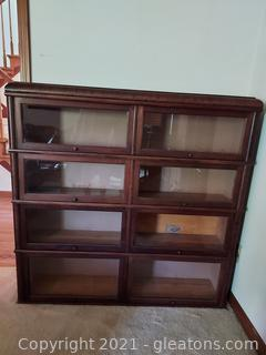 Lovely Double Wide Mahogany Barrister Bookcase