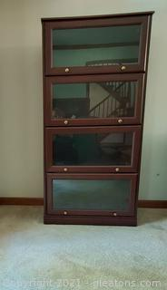 Barrister 4 Shelf Glass Front Display/Book Case