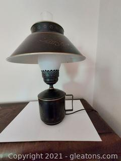Colonial Revival Tole Hurricane Table Lamp