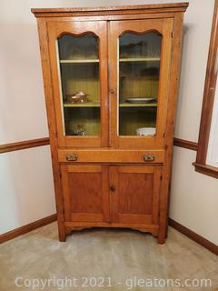 Antique Flat Wall Cupboard (Cupboard Only)