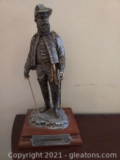Chilmark- The Calvary Generals J.E.B Stuart Pewter Statue by Francis J.Barnum