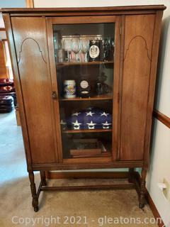 1920's Single Door China Cabinet (Cabinet Only)