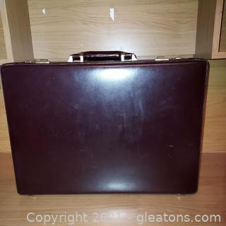 Very Nice Top Grain Leather Briefcase