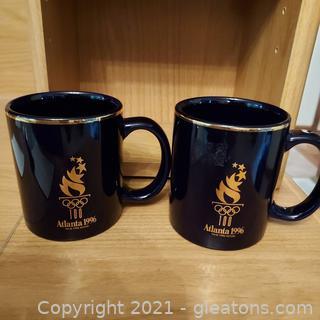 Pair of 1996 Olympic Coffee Mugs