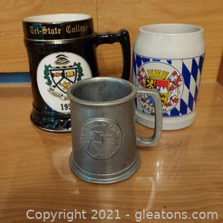 Mixed Collection of Beer Steins