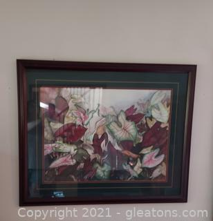 Beautiful Botany Print Framed Behind Glass