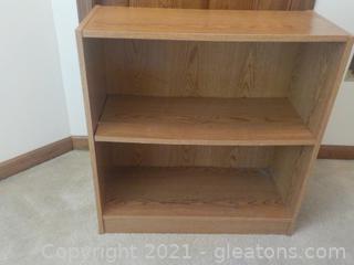 Sturdy Low 2 Shelf Bookcase