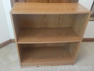 Sturdy 2 Shelf Low Bookcase