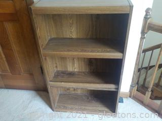 Sturdy 3 Shelf Bookcase